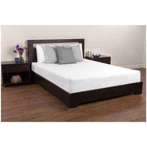 twin bed memory foam comfort revolution 174 twin 8 quot memory foam mattress 623580 mattresses frames at