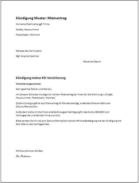 kã ndigung wohnung mietvertrag fur wohnungen pdf vorlage ka 1 4 ndigung