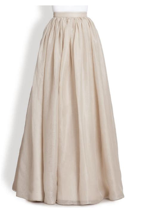 plus size ivory chiffon white flowing maxi skirt