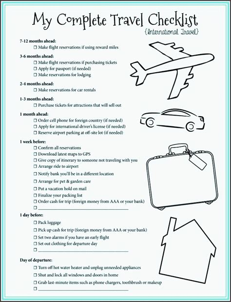 25 Unique Travel Checklist Ideas On Travel Packing Checklist Checklist For Travel 4 editable cing trip planner for free