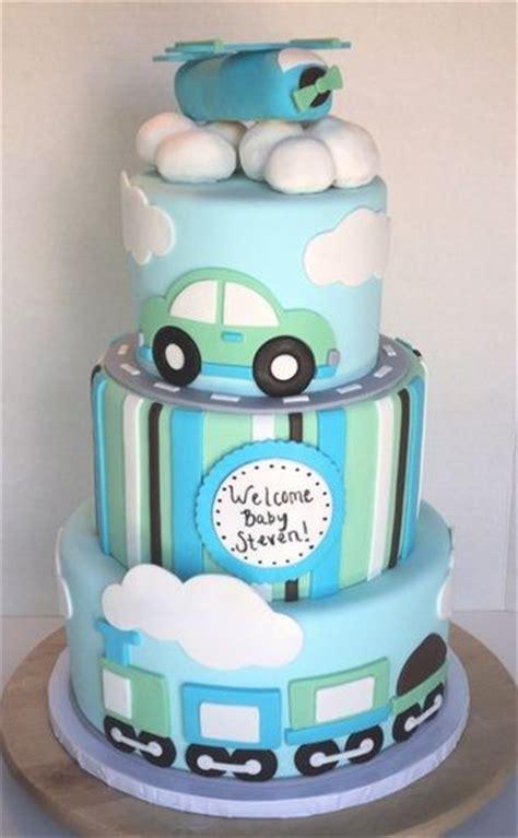 baby boy fondant cakes cars planes trains baby shower cake  boy baby shower baby shower