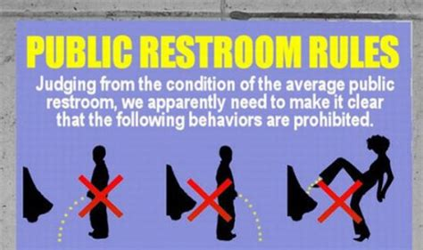 public bathroom rules stupid things to do in a public bathroom