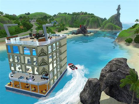 sims 3 island paradise boat house sims3 island paradise images big house boat wallpaper and