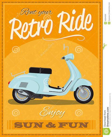design poster k3 retro scooter poster design stock vector illustration of