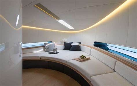 Vessel Bathroom by Norman Foster Designed Yacht Is A Sleek Way To Sail The