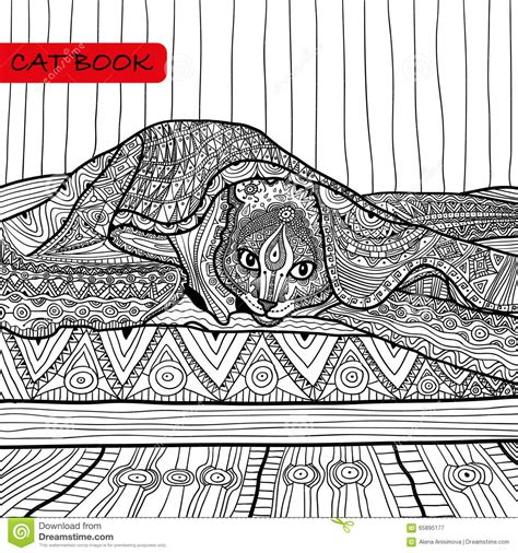 intricate cat coloring pages coloring book for adults zentangle cat book the cat on