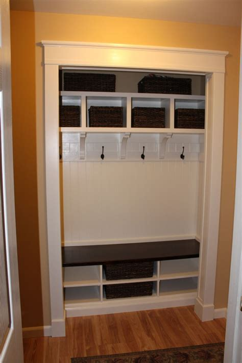 Entryway Closet Ideas by Convert The Entry Closet The Front Door Into A