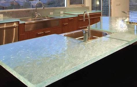 Glass2 Countertops by Get Transparent With Think Glass Kitchen Countertops 3rings