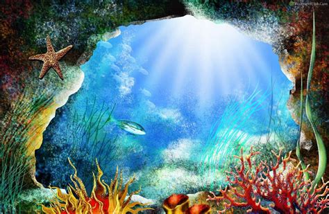 free wallpaper underwater scene best underwater painting desktop wallpapers background