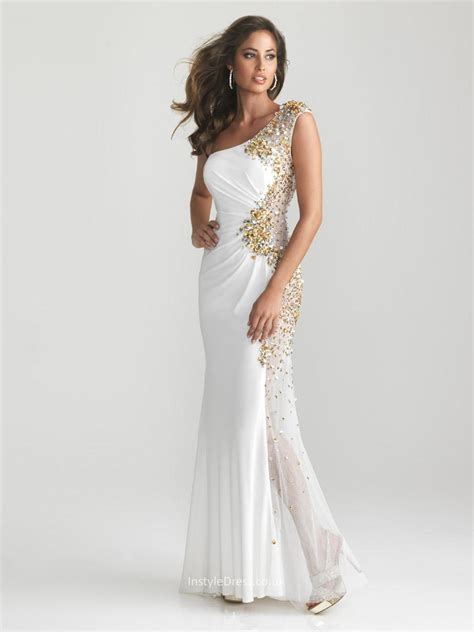 white beaded cocktail dress contemporary white beaded sequin one shoulder sleeveless