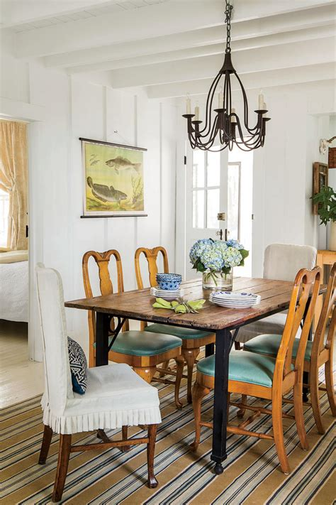 wood and iron dining room table stylish dining room decorating ideas southern living