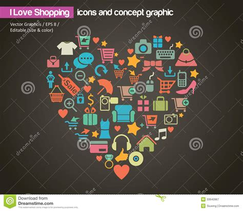 image gallery i love shopping icons i love shopping icon and concept royalty free stock