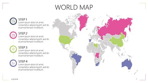free map template world map free powerpoint template