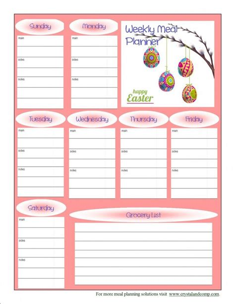 free printable planner decorations best 25 free printable meal planner ideas on pinterest
