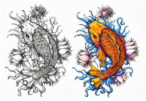 koi tattoo design by crisluspotattoos on deviantart