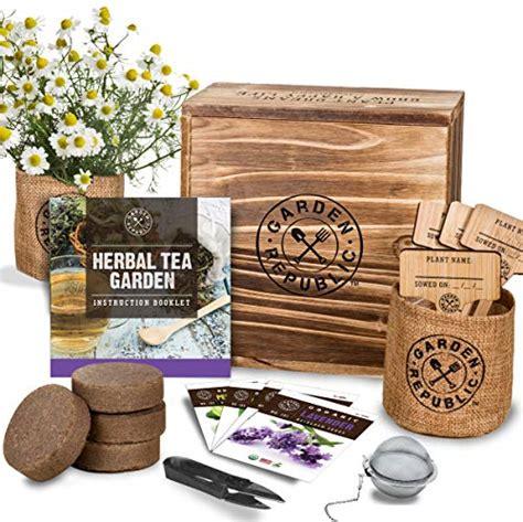 indoor herb garden seed starter kit organic herbal tea