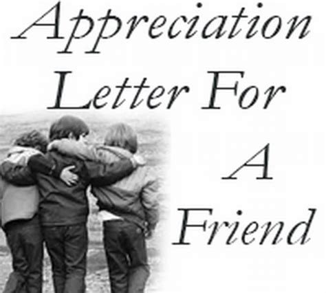 appreciation letter to friend friendship letter to best friend