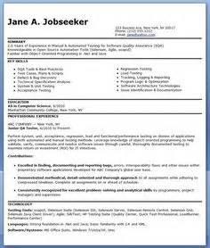 resume sample qa - Sample Resume Software Tester