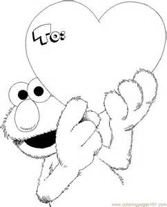 coloring pages elmo valentine coloring page cartoons