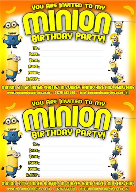 printable invitations minions free minions movie downloads printable party invitations