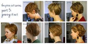 fgrowing hair from pixie to bob pixie cut ideas grow out project pinterest