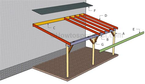 Attached Carport Designs by How To Build An Attached Carport Diy Woodworking Pole