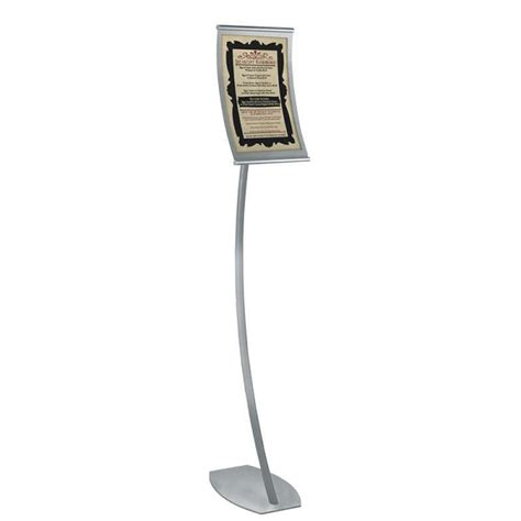 sign stands curved metal floor sign holder 8 5 quot x 14 quot stand up sign