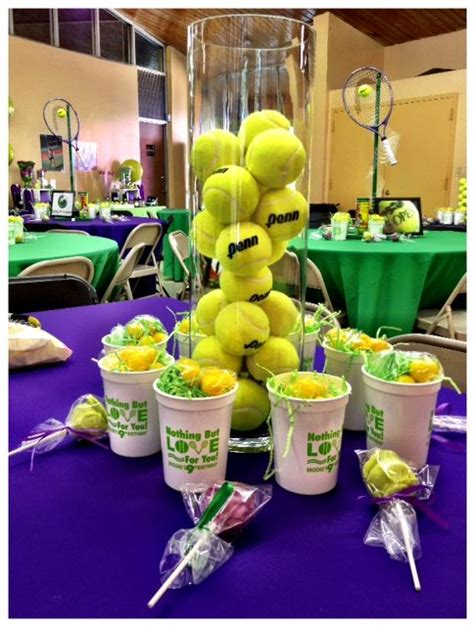 tennis themed events tennis themed centerpieces events by baez party