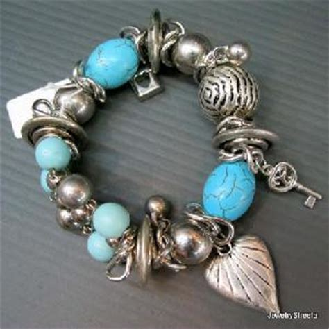 Handmade Jewelry Usa - handmade turquoise bracelet stretch jewellery with silver