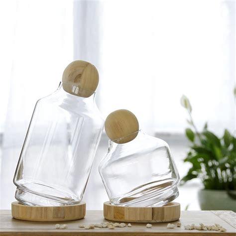unfinished  wood ball lids  glass vase