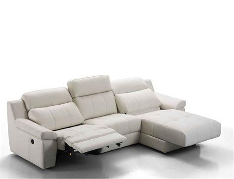 sofa piel chaise longue sof 225 chaiselongue en piel espesorada con relax el 233 ctrico