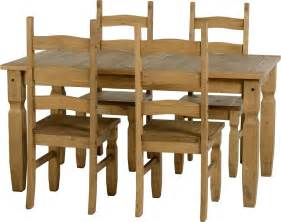 Mexican Pine Dining Table And Chairs Mercers Furniture Corona Mexican Pine Dining Table And