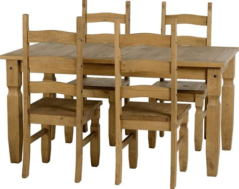 mercers furniture corona mexican pine dining table and