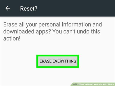 reset android version how to reset your android phone 12 steps with pictures