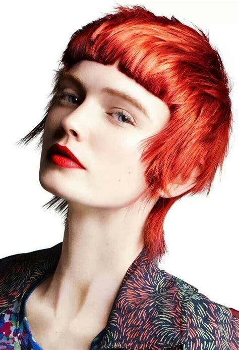 modern mullet hairstyle toni and guy 50 50 collection short hair length cuts