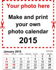 Word 2015 Calendar Template by Photo Calendar 2015 Free Printable Word Templates