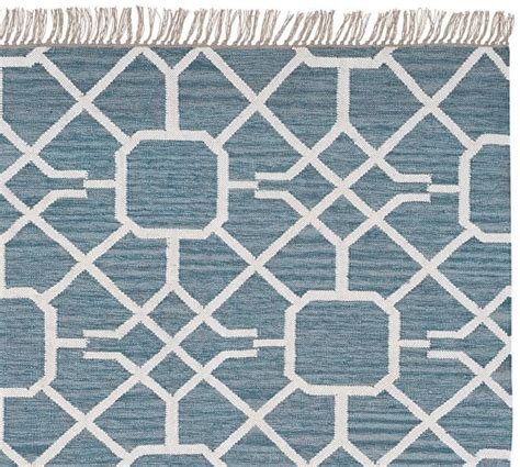 Pottery Barn Indoor Outdoor Rug Maze Synthetic Indoor Outdoor Rug Blue Pottery Barn
