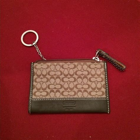 73% off Coach Clutches & Wallets   Authentic Coach credit card wallet with key chain from Allie