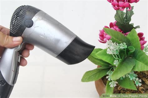 Using Hair Dryer To Clean Pc how to clean plastic plants 8 steps with pictures wikihow