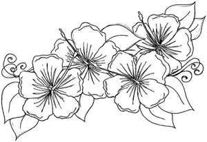 Galerry luau flower coloring page