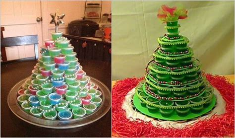 creative ideas diy jello shot christmas tree
