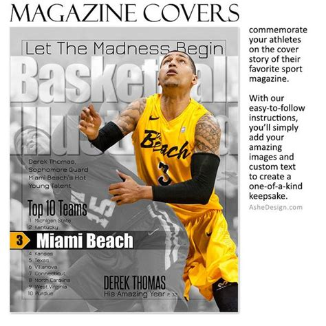 Sports Magazine Cover 8x10 Illustrated Ashedesign Sports Illustrated Magazine Cover Template
