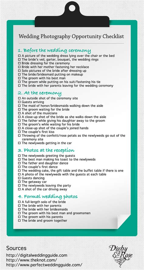 Wedding Videography Checklist by All Inclusive Wedding Registry Checklist Vancouver