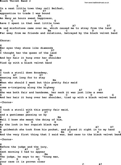 black velvet lyrics black velvet band ver3 by the dubliners song lyrics and