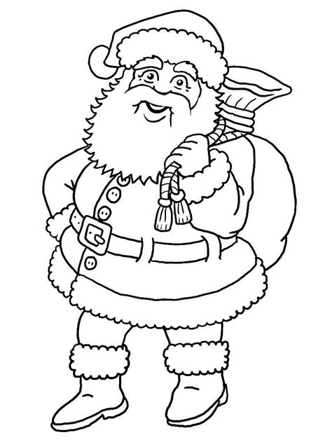 large santa coloring page printable blank santa claus free large images