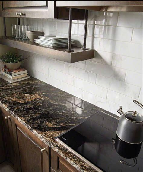 X 16 4 In white 4x16 quot glossy ceramic backsplash tile