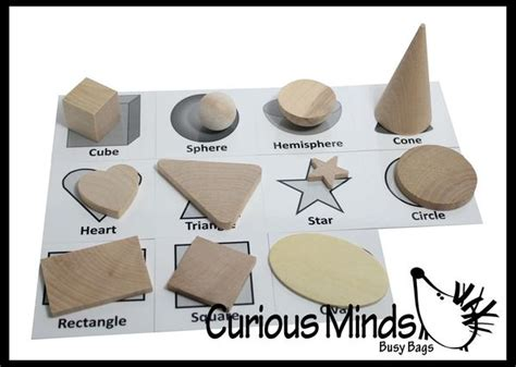 pattern matching part 2 wooden geometric solid shapes match with matching cards