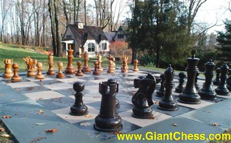 life size chess life size chess set on the garden grounds we have a life