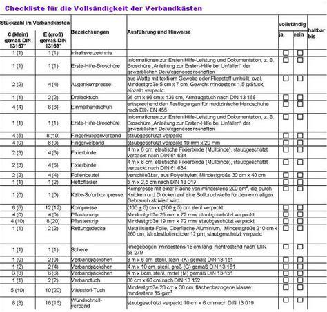 Verbandskasten Auto Kontrolle by Pearl Verbandskasten Marken Kfz Verbandkasten Plus