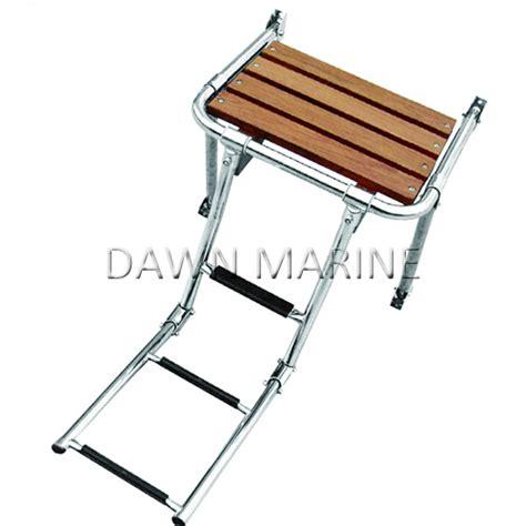 folding boat platform boat wood swim platform with folding ladder dawn marine